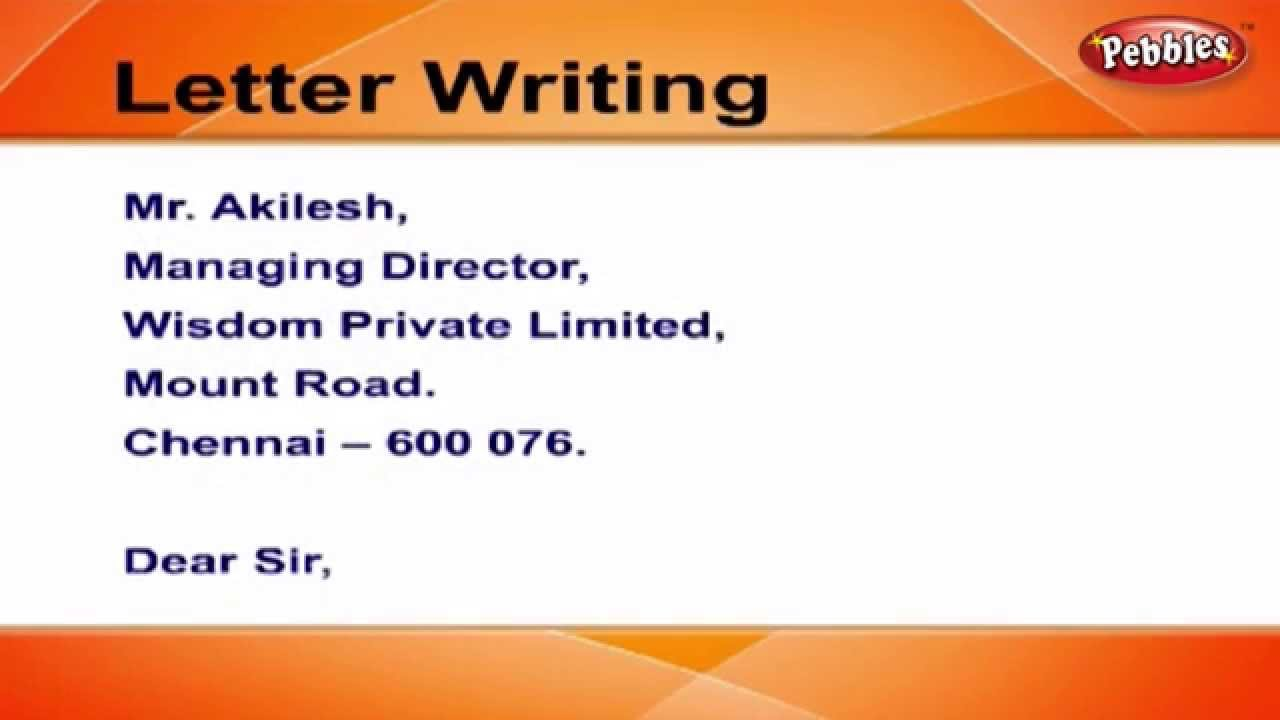 How To Write Resignation Letters | Letter Writing In English | Writing  Letters For Kids