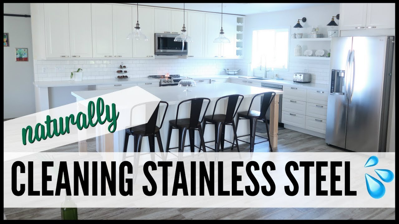 💧HOW TO CLEAN STAINLESS STEEL REFRIGERATOR DOORS NATURALLY WITH ONLY WATER  WITHOUT LEAVING STREAKS