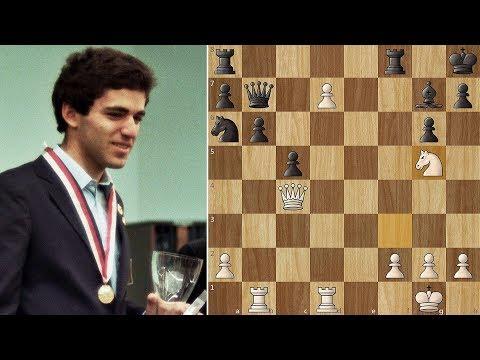 Garry Kasparov Crushes his opponent like Mikhail Tal
