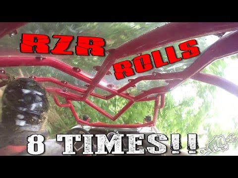 BRUTAL RZR 1000 HILL CLIMB CRASH
