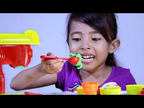 Mainan anak lilin warna warni - ice cream factory fun doh-kids toys review unboxing