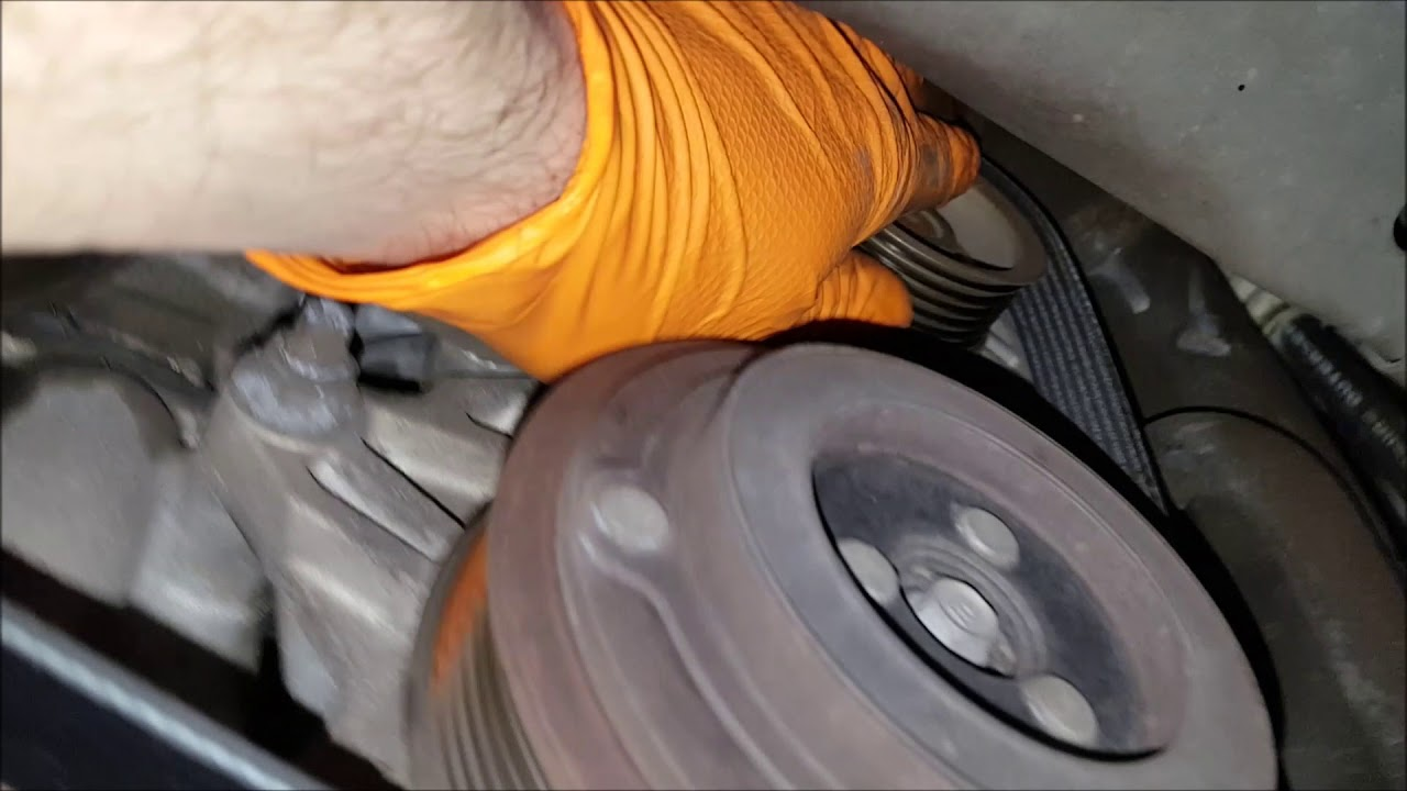 hight resolution of nissan 3 5l alternator belt replacement