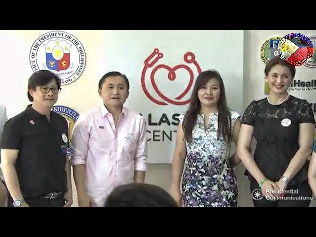 WOW ! BONG GO AND HONEYLET AVANCEÃ'A JOIN UNVEILING OF THE MAIN BUILDING OF EVRMC IN TACLOBAN CITY