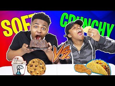 CRUNCHY VS SOFT CHALLENGE!