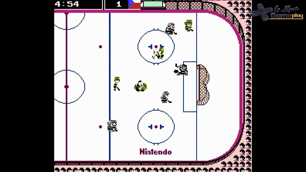 la minute gameplay ice hockey nes youtube