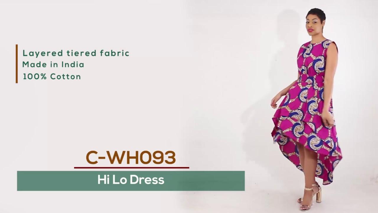 5ae6b2332f7 African Print Hi Lo layered dress in purple - YouTube