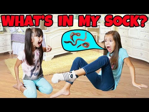 WHAT'S IN MY SOCK CHALLENGE! Loser eats Bean Boozled!