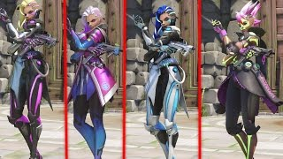 ALL Overwatch Sombra Skins (Legendary: Azucar, Los Muertos, Augmented, Cyberspace)