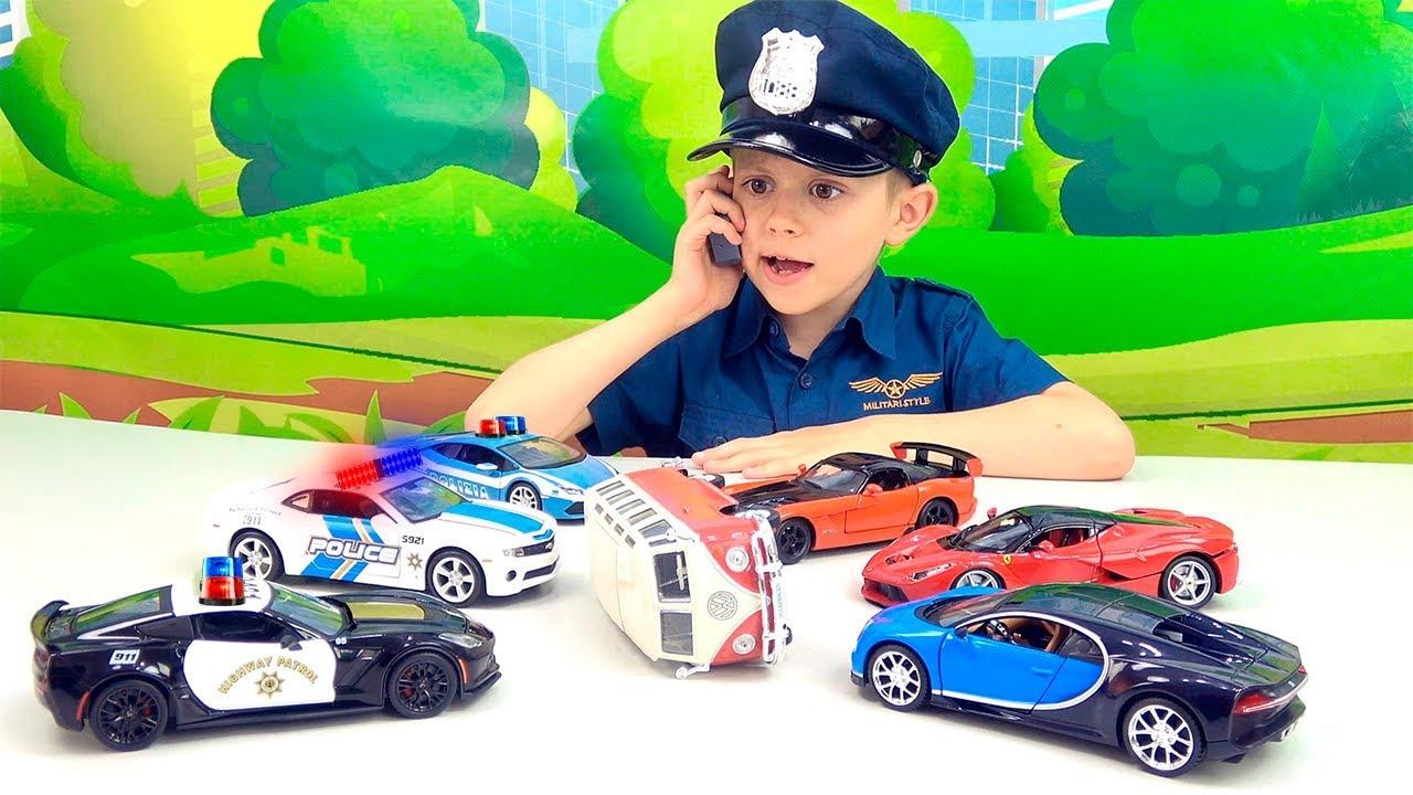 Полиция против ГОНЩИКОВ НАРУШИТЕЛЕЙ - Полицейский Даник и МАШИНКИ для детей
