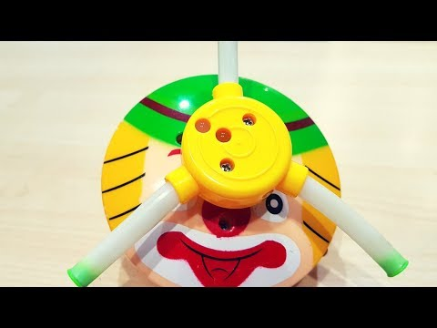 Amazing Musical Lattoo Play Game, Electrical Lightening Spinning Toy, How to Play Video for Kids