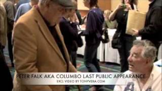 PETER FALK Last Public Appearance Jonathan Winters comes by to say hi