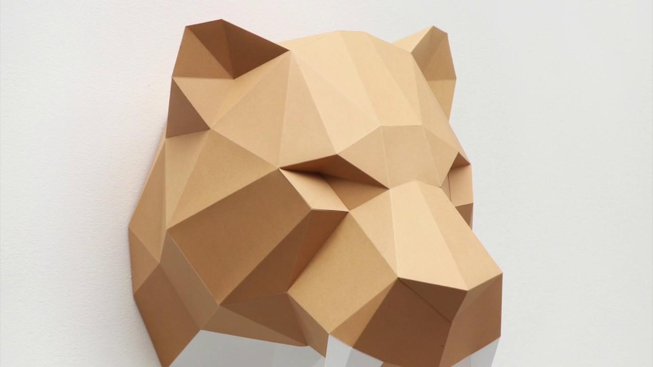 How to make SabreTooth Tiger | Assembli Papercraft DIY