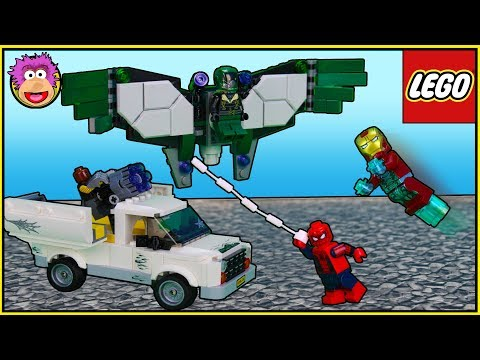 LEGO Marvel Super Heroes SPIDERMAN & IRONMAN battle The Vulture & Shocker - Beware the Vulture 76083