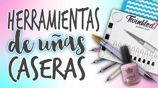 HERRAMIENTAS para DECORAR UÑAS 💅🏼 CASERAS 💅🏼 Fáciles y Económicas
