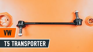 Tanko kallistuksenvaimennin asennus VW TRANSPORTER V Box (7HA, 7HH, 7EA, 7EH): ilmainen video