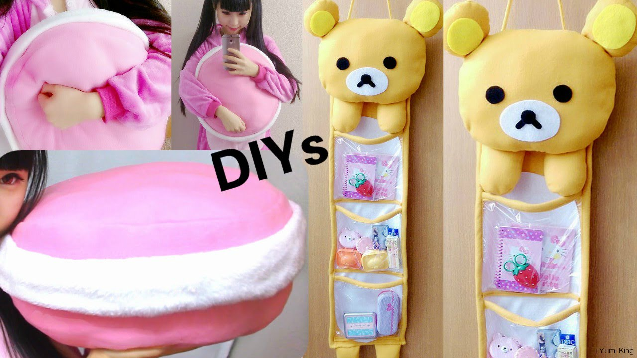 Room Decor Diysdiy Rilakkuma Storage Hanging Wall Macaron Pillowhaul  Youtube With Hanging Stuffed Animal Storage.