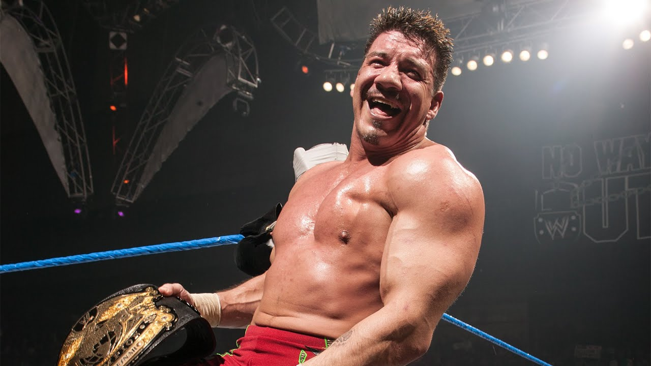 Eddie Guerrero beats Brock Lesnar for the WWE Title: WWE No Way Out 2004