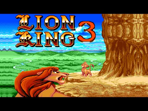 The Lion King - 3 walkthrough (Sega Mega Drive/Genesis).