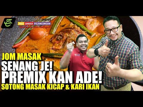 JOM MASAK SOTONG MASAK KICAP & KARI IKAN | SENANG JE! PREMIXKAN ADA!