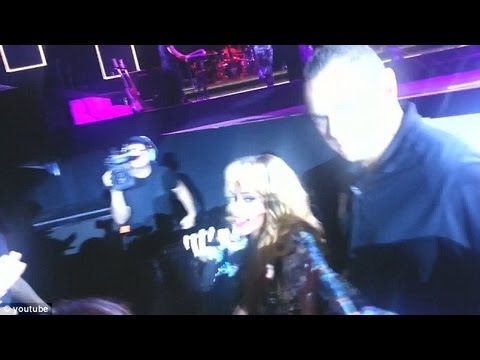 Rihanna Hits Fan In The Face With Microphone