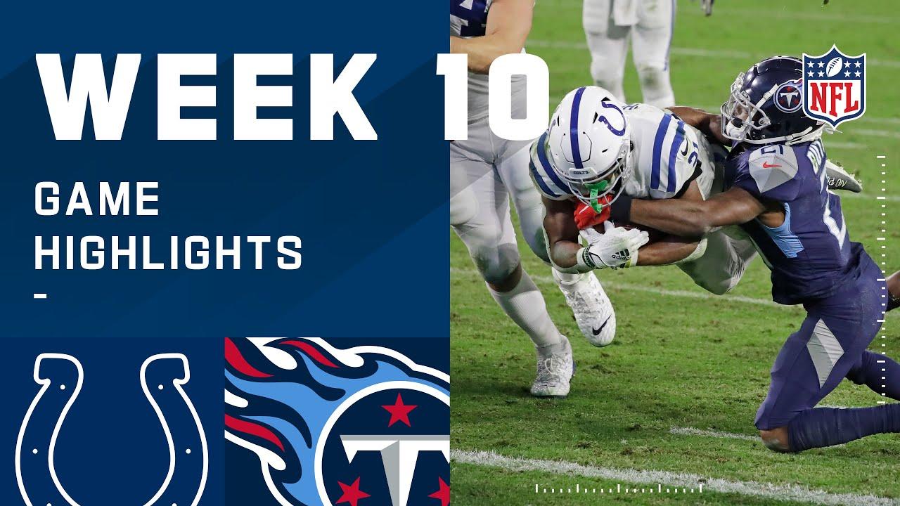 Colts vs. Titans Week 10 Highlights   NFL 2020