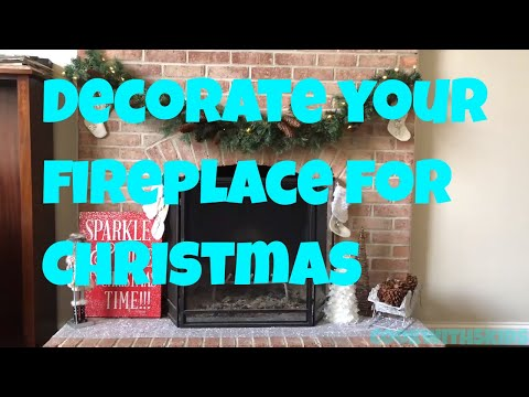 At Home Stores, how to decorate your fireplace for Christmas