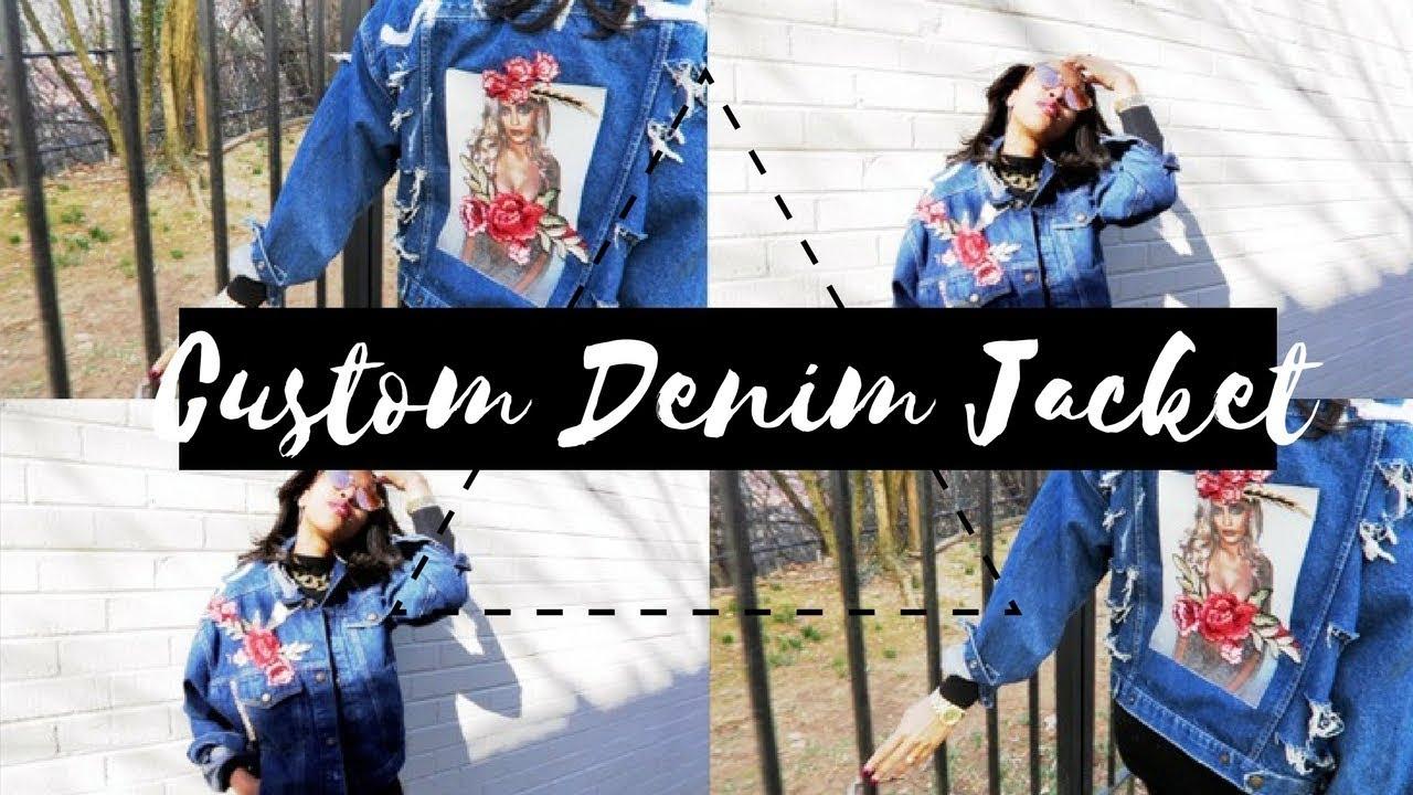 Diy Custom Denim Jacket 2018 Trend Youtube