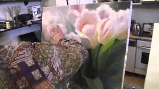 Цветы научиться писать маслом.Уроки живописи в Москве, Сахаров