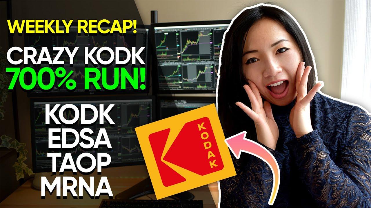 KODAK Stock Top Runner $KODK $EDSA $TAOP Day Trading Recap
