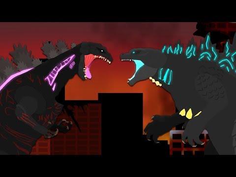 Legendary Godzilla vs Shin Godzilla | DinoMania - Godzilla Cartoons (2019)