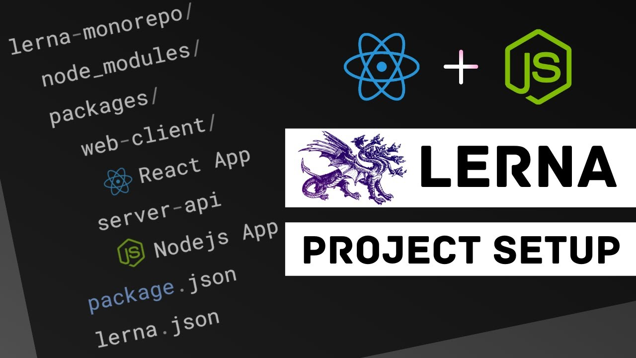 Monorepo Lerna Project Setup - React and Node.js | Multiple JavaScript Packages
