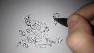 The aggro Карикатура (рисунок карандашом)