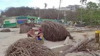 La destrucción del huracán Maria en la playa Crash Boat, Puerto Rico