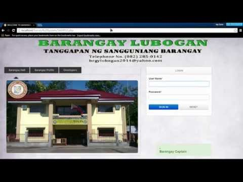 Barangay Lubogan Management System