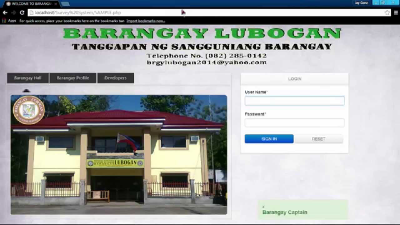 barangay management information system what is project management more specifically, what is a project it's a temporary group activity designed to produce a unique product, service or result.