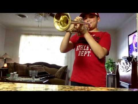 Rocky (gonna fly now) on trumpet
