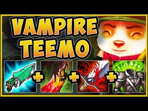 MAX LIFESTEAL CHALLENGE! VAMPIRE TEEMO TOP IS LITERALLY UNBEATABLE! - League of Legends Gameplay