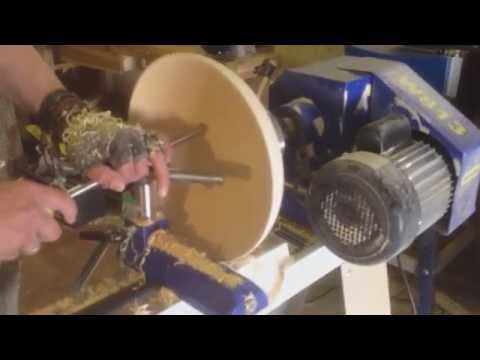 hollowing a lime wood bowl