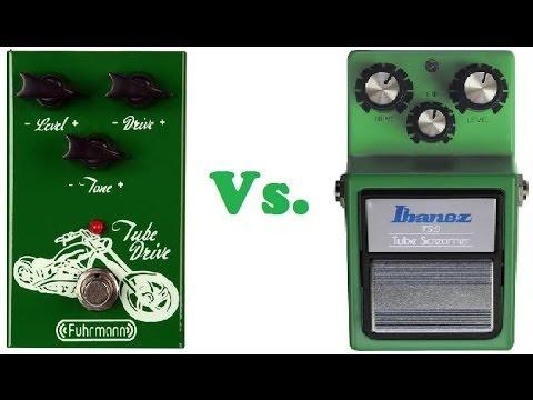 Review Fuhrmann Tube Drive X Ibanez Tube Screamer TS9