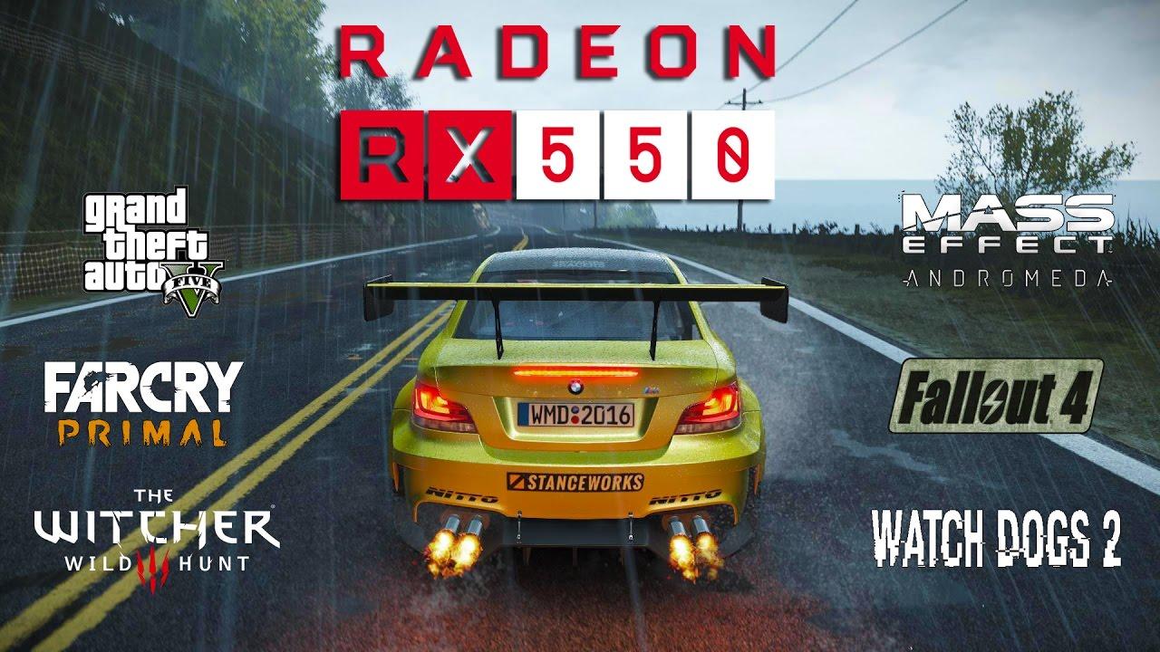 Radeon RX 550 Test in 7 Games (Ryzen 1400)
