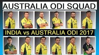 Australia ODI Squad For India 2017.India vs Australia ODI Series 2017.Australia Complete Player