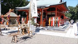 6600上総総社鶴峰八幡神社例大祭:美しい社殿と神輿神事 H29tmn3