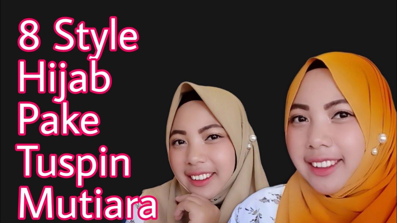8 Tutorial Menggunakan Tuspin Mutira Pada Hijab Segi Empat Dan Pashmina Youtube