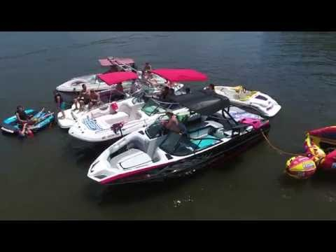 Jordan Lake NC Party Cove Memorial Day 2016