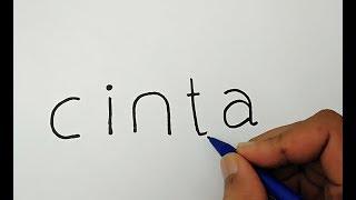 Video KEREN, cara menggambar kata CINTA jadi gambar ROMANTIS download MP3, 3GP, MP4, WEBM, AVI, FLV November 2018