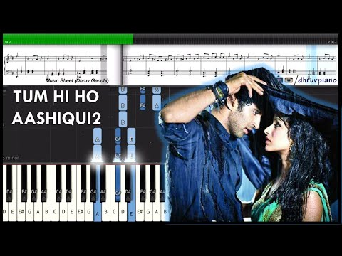♫ Tum Hi Ho (Aashiqui 2) || Piano Tutorial + Music Sheet + MIDI with Lyrics