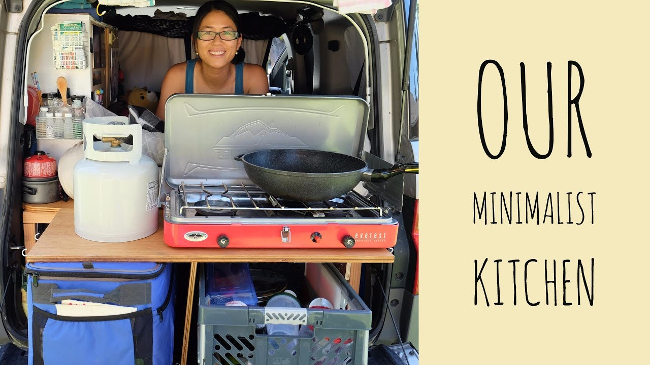 Honda Element (Van) Life || Our Minimalist Kitchen Tour