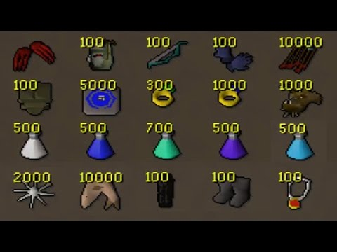 Loot From 100 Sets of Edgeville Pure Pking