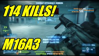 BF3 - 114 kills operation metro w (M16A3) | Switched to losing team!