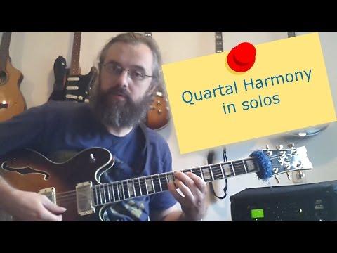 Quartal harmony in solos